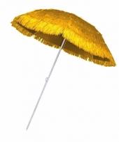 Rieten strand parasol geel