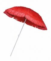 Rieten strand parasol rood