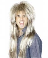 Rockster pruik lang blond haar