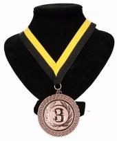 Roda jc kleuren medaille nr 3 lint geel en zwart