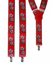 Rode bretels met bloemen voor volwassenen