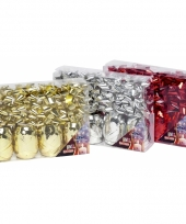 Rode cadeaulinten en strikjes set