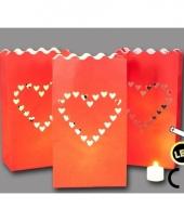 Rode candle bags 3 stuks met hart