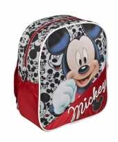 Rode disney mickey mouse rugtas voor kinderen