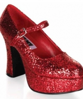 Rode glitter damesschoenen