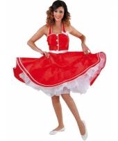 Rode halterjurkje voor dames