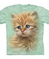 Rode kat poes kitten shirt the mountain