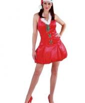 Rode kerst ballonjurk met kerstmuts
