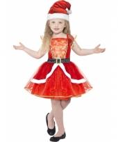 Rode kerstjurk met verlichting voor kids