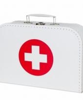 Rode kruis koffertje wit