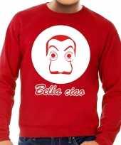Rode salvador dali sweater voor heren