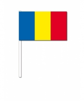 Roemenie zwaai vlaggetjes 12 x 24 cm