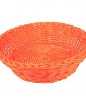 Rond kadomandje oranje 25 cm