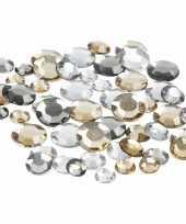 Ronde glinster steentjes assorti zilver