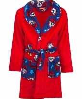 Rood blauwe paw patrol badjas met capuchon voor jongens
