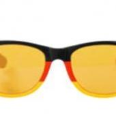 Rood geel zwarte feest brillen