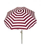 Rood gestreepte zomer parasol 180 cm