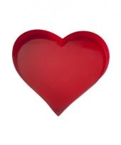 Rood hart serveerblad 30 cm
