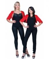 Rood jaren 50 bontjasje voor dames