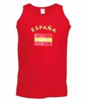 Rood mouwloos shirt met spanje print 10041491