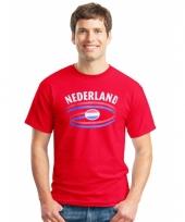 Rood nederland shirt voor heren
