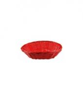 Rood rieten mandje 20 cm