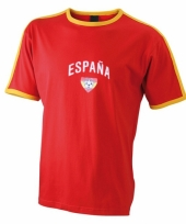 Rood shirt met espana print
