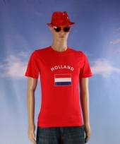Rood shirt met holland vlag