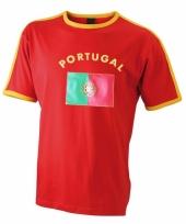 Rood shirt met portugal print man