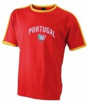 Rood shirt met portugese vlag print
