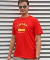 Rood t-shirt met spanjeprint