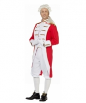 Rood wit circus directeur kostuum