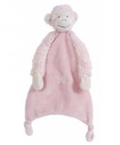 Roze baby tuttel aapje 28 cm
