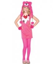 Roze beer outfit voor kinderen