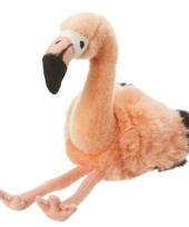 Roze flamingo knuffel