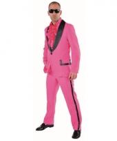 Roze gangnam kostuum voor mannen