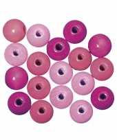 Roze gekleurde kraaltjes 6 mm