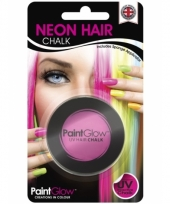 Roze glow in the dark haarkrijt