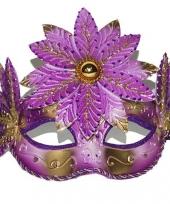 Roze gouden carnavals oogmasker