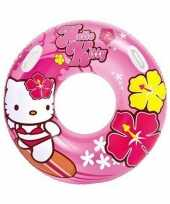 Roze hello kitty zwemband zwemring