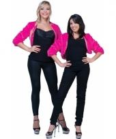 Roze jaren 50 bontjasje voor dames 10080254