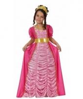 Roze kinder verkleedjurk prinses
