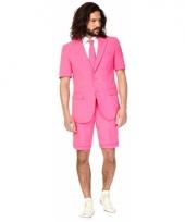 Roze korte opposuit voor heren