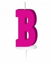 Roze letter kaars b