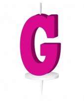 Roze letter kaars g
