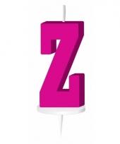 Roze letter kaars z