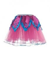 Roze met blauwe verkleed petticoat voor meiden