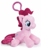 Roze my little pony tashanger knuffeltjes 12 cm