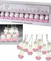 Roze nijntje verlichting slingers