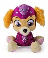 Roze paw patrol hondje knuffeldier 15 cm